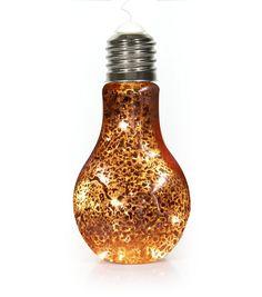 Bronze Hanging Light Bulb   New Look