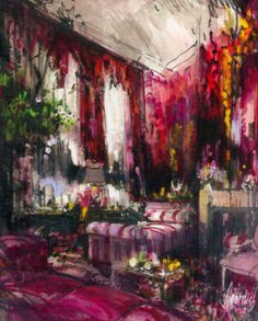 EDYTA & CO. INTERIOR DESIGN: Jeremiah Goodman's interior illustrations