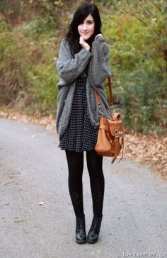 Love the sweater. The dress is pretty cool, too.