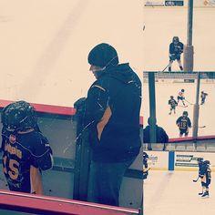 #hockey #KIDSLIFE #dad #boys #teachingkids #familyfirst #fns #fatherandson #games #memories #roots #momsboy