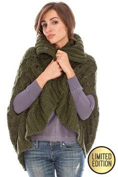 Goddiva Limited Edition Oversized Knitted Wrap Front Cape £38.00 #goddivafashion #limitededition