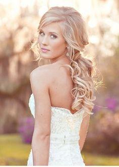 loose hair wedding style