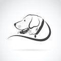 Vector image of an dog labrador head Royalty Free Stock Photo