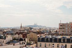 View from Le Perchoir rooftop bar/restaurant, Paris 75011