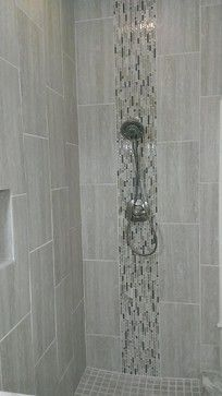 "Contemporary Wall Tile contemporary shower design. 12x24 wall tile set vertical ""stacked"