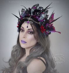 "Morgana ""Purple Decay"" Gothic Fairy Headdress"