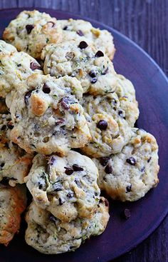 Chocolate Chip Zucchini Cookies ~ makes about 6 dozen Zuchinni Cookies, Zucchini Chocolate Chip Cookies, Zucchini Brownies, Zuchinni Recipes, Chocolate Muffins, Chocolate Desserts, Vanilla Recipes, Baking Recipes, Cookies
