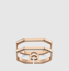 Gucci - rose gold running g ring 356318J85005702