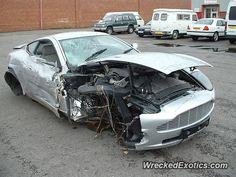 Aston Martin Vanquish crashed in London