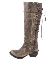 idlewild crackle brown boots