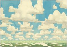 """Cloud World  Aaron Morse (American, born 1974)    2003. Synthetic polymer paint and pencil on paper, 15 3/4 x 22 1/8"""" (40 x 56.2 cm). The Judith Rothschild Foundation Contemporary Drawings Collection Gift. © 2012 Aaron Morse  2473.2005"""