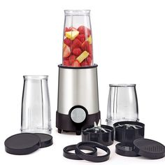 BELLA Personal Size Rocket Blender, 12 piece set, color stainless steel and black: Electric Countertop Blenders: Kitchen & Dining