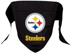 """""""Rock STEELERS...Here we Go!""""...TOUCH DOWN!"""" Official Pittsburgh STEELERS Licensed NFL Fan Game Gear for your Quarterback! Choose all of your favorites and let your pet join in the fun of cheering on"""