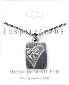 Silver Medallion With Heart Necklace