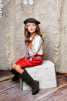 Taylor Joelle Designs Baby and Children's Clothing Boutique - The Red Chevron Bag Skirt