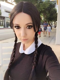 Character: Wednesday Addams / From: 'The Addams Family' / Cosplayer: Riki LeCotey (aka Riddle's Messy Wardrobe)