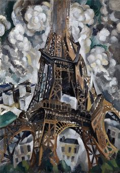 "amare-habeo: "" Robert Delaunay (French, 1885-1941) The Eiffel Tower,1911 Oil on canvas """