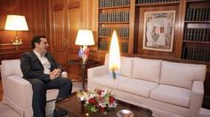 https://pbs.twimg.com/media/C9dzeD7WsAIdUMs.jpg Αθεοι Ελλαδας @atheoi_elladas  Συνάντηση του πρωθυπουργού μας με τον αρχηγο του κρατους.