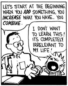 Calvin realizes the truth about math.
