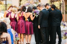 Bridal Party praying over the bride and groom during ceremony ....AlyssaChris_Married