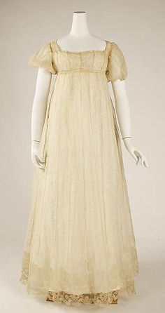 Dress (image 1) | French | 1804-1814 | no medium available | Metropolitan Museum of Art | Accession Number: 38.19.27