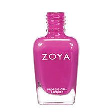Zoya Nail Polish in Reagan - a deep, cool fuchsia pink with subtle blue undertone and an opaque cream finish