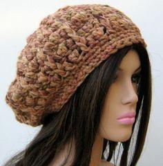 Nutmeg Wool Beret Tam Hat Slouchy Beanie by PurpleSageDesignz, $22.00