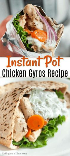 INSTANT POT CHICKEN GYROS RECIPE