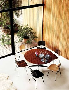 DCM Eames Plywood Chairs http://www.nest.co.uk/product/vitra-dcm-eames-plywood-chair via Mid-Century Modern Blog and Herman Miller
