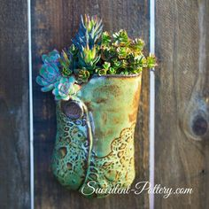 Pocket -Succulent-Pottery.com