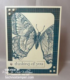 SU! Swallowtail and Sweet Essentials stamp sets; Very Vanilla cardstock; SoHo Subway DSP;  Island Indigo ink - Mary Jo Price-Williams