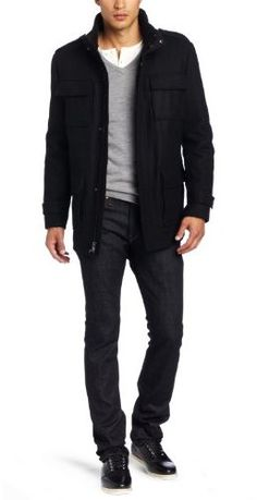 Calvin Klein Men's Field Jacket $112.00 thestylecure.com