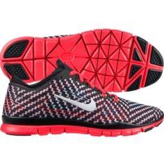 Nike Women's Free 5.0 TR FIT PRT 4 Training Shoe - Black/White/Crimson | DICK'S Sporting Goods