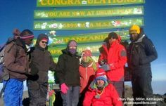 Chris Evan's group reach Mt Kilimanjaro! Congratulations from privateexpeditions.com