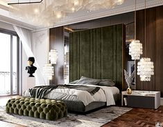 Bathroom Design Decor, Home Room Design, Bed Design, Luxury Master Bedroom Design, Living Room Decor Apartment, Interior Architecture Design, Bedroom Design Inspiration, Interior Architect, Glamorous Room