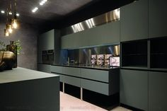 Traditionally, Aran Cucine has always been keen to experiment and search for innovative kitchen solutions. A winning feature of Aran Cucine is its ability to… Tv In Kitchen, Small Space Kitchen, Kitchen Corner, Kitchen Images, Farmhouse Style Kitchen, Kitchen Pictures, Kitchen Interior, Kitchen Decor, White Shaker Kitchen