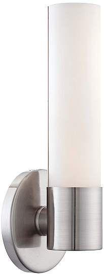 "George Kovacs Saber 12"" High Brushed Nickel LED Sconce - #2P945   Lamps Plus"