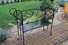 Záhradná provensálska lavička kovová - 1