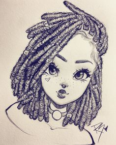 Learn how to draw Locs with Christina Lorré