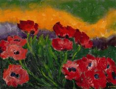 Emil Nolde, Mohn (Poppies), 1950