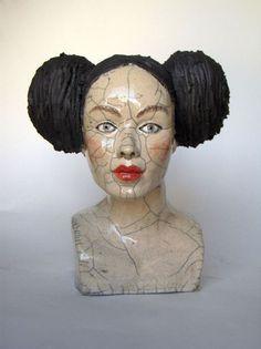 Paris Art Web - Melanie Bourget - Raku Ceramics Head