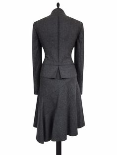 2 piece asymmetric skirt suit. 80% wool fabric. 80% wool. Length from collar: 22 55. Shoulder to cuff: 24 61. Length: 24-27 61-68. FABRIC COMPOSITION. Rest of world £25. | eBay!