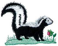 Dakota Collectibles Embroidery Design: Skunk 2.45 inches H x 2.97 ...
