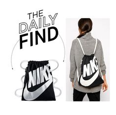 """""""The Daily Find: Nike Heritage Gymsack"""" by polyvore-editorial ❤ liked on Polyvore featuring NIKE and DailyFind"""