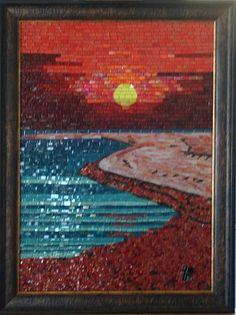 Mosaic Artwork, Mosaic Wall Art, Mirror Mosaic, Abstract Wall Art, Mosaic Tiles, Mosaic Crafts, Mosaic Projects, Mosaic Designs, Mosaic Patterns