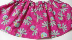 Teal Birds Hot Pink  Baltic  Cotton Fabric BabyTutu  Skirt #handmade #etsyretwt