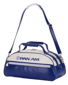 The Sky Bag is an exciting new offering from Pan Am for 2012 with its unique shape perfect for the overhead cabin and killer looks. This is the perfect bag for that last minute trip and makes a great gym bag to boot! $174.00