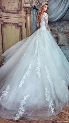 GALIA LAHAV bridal spring 2017 long sleeves high neck ball gown wedding dresses (corina) bv vback train #bridal #wedding #weddingdress #weddinggown #bridalgown #dreamgown #dreamdress #engaged #inspiration #bridalinspiration #weddinginspiration #weddingdresses #romantic #princess