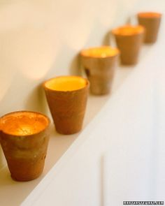 Homemade Votives- Great Hostess Gift!