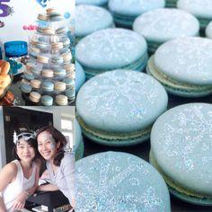Frozen Themed Macarons for parties - Hong Kong #macarons #party #food #ideas #hongkong #frozen